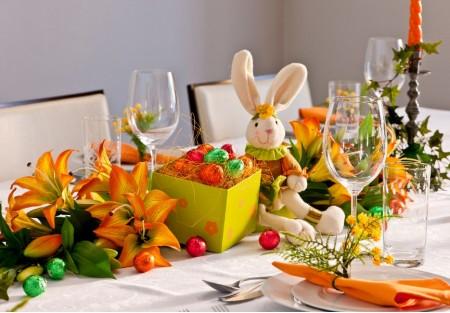 dicas para decorar uma mesa para pascoa