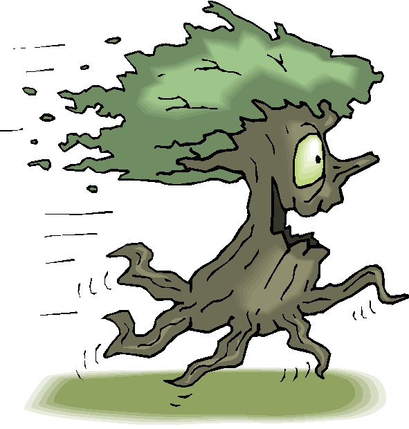 Running Tree Free Clipart