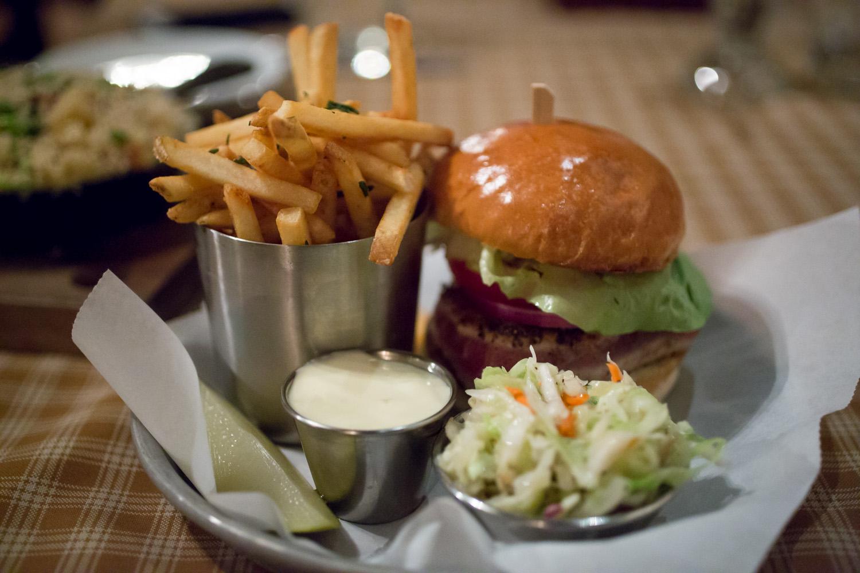 Montage Deer Valley Resort Burgers and Bourbon Tuna Burger