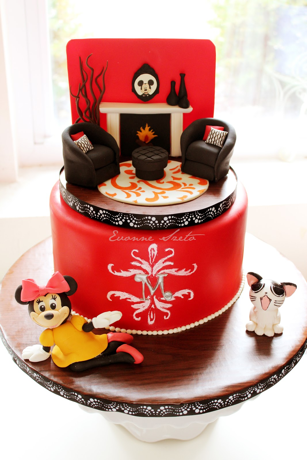 Sweet From The Heart Japanese Cheesecake Interior Designer Cake