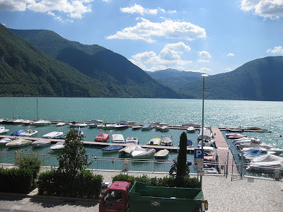 Lake Lugano seen from Porlezza, Italy