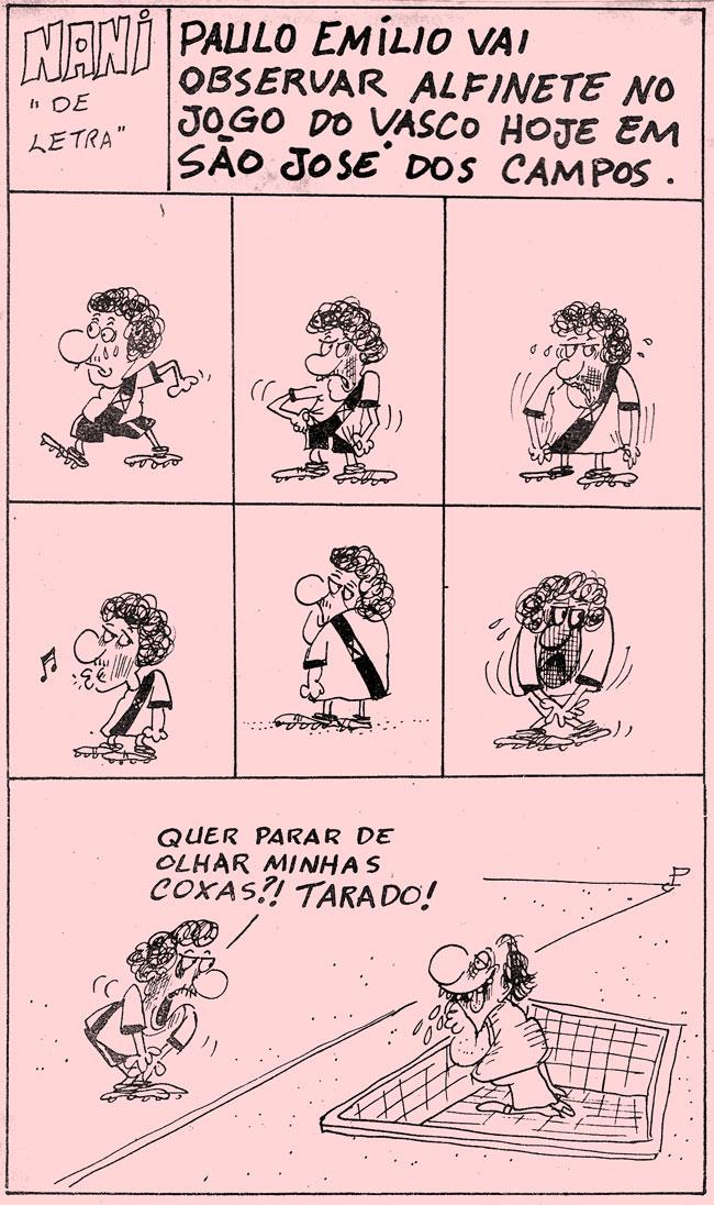 10/03/1976 - Paulo Emílio vai observar Alfinete no jogo do Vasco hoje em São José dos Campos