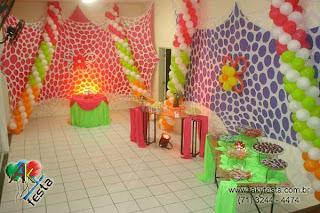 lycran tensionado dica para decoração de festa de carnaval