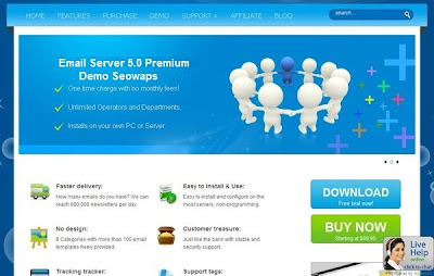 Email Sever 5.0 Home Page