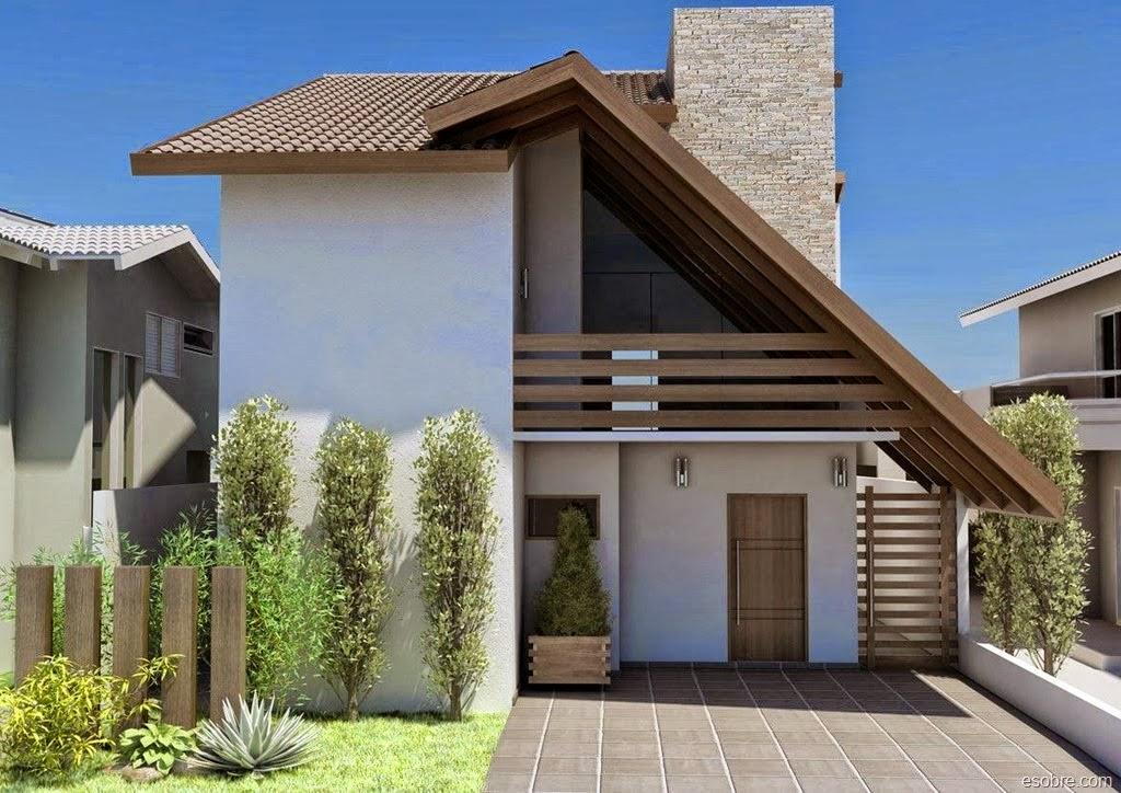 Fachadas para casas pequenas ap em decora o for Fachadas pequenas