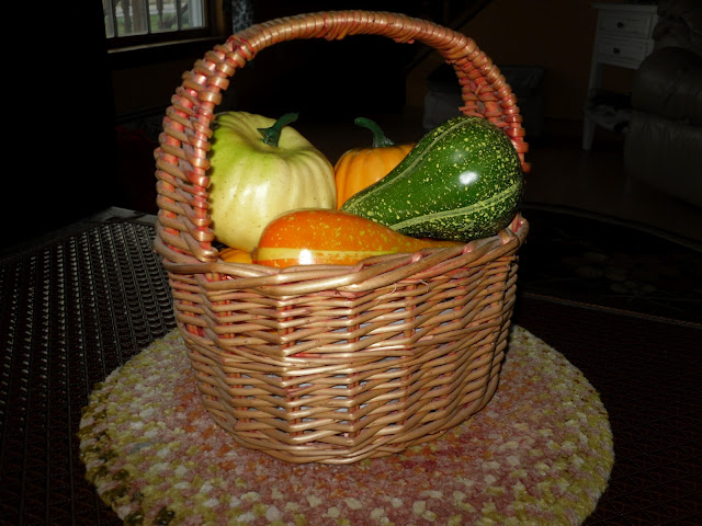 Seasonal decorated basket