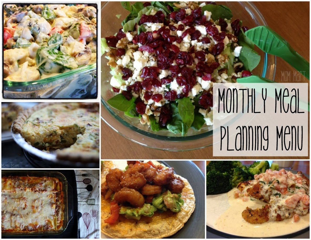 Monthly Meal Planning Menu