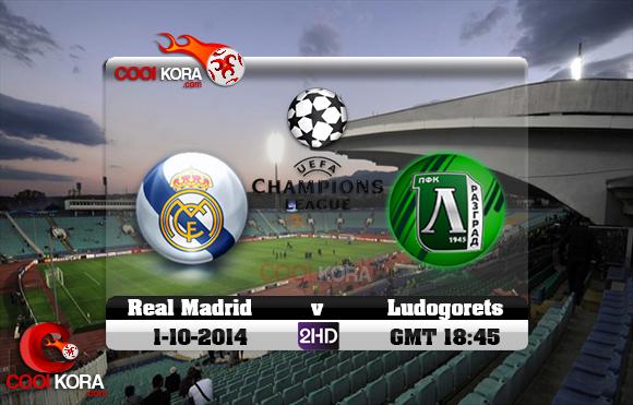 مشاهدة مباراة ريال مدريد ولودوجوريتس بث مباشر بي أن سبورت Ludogorets Razgrad vs Real Madrid