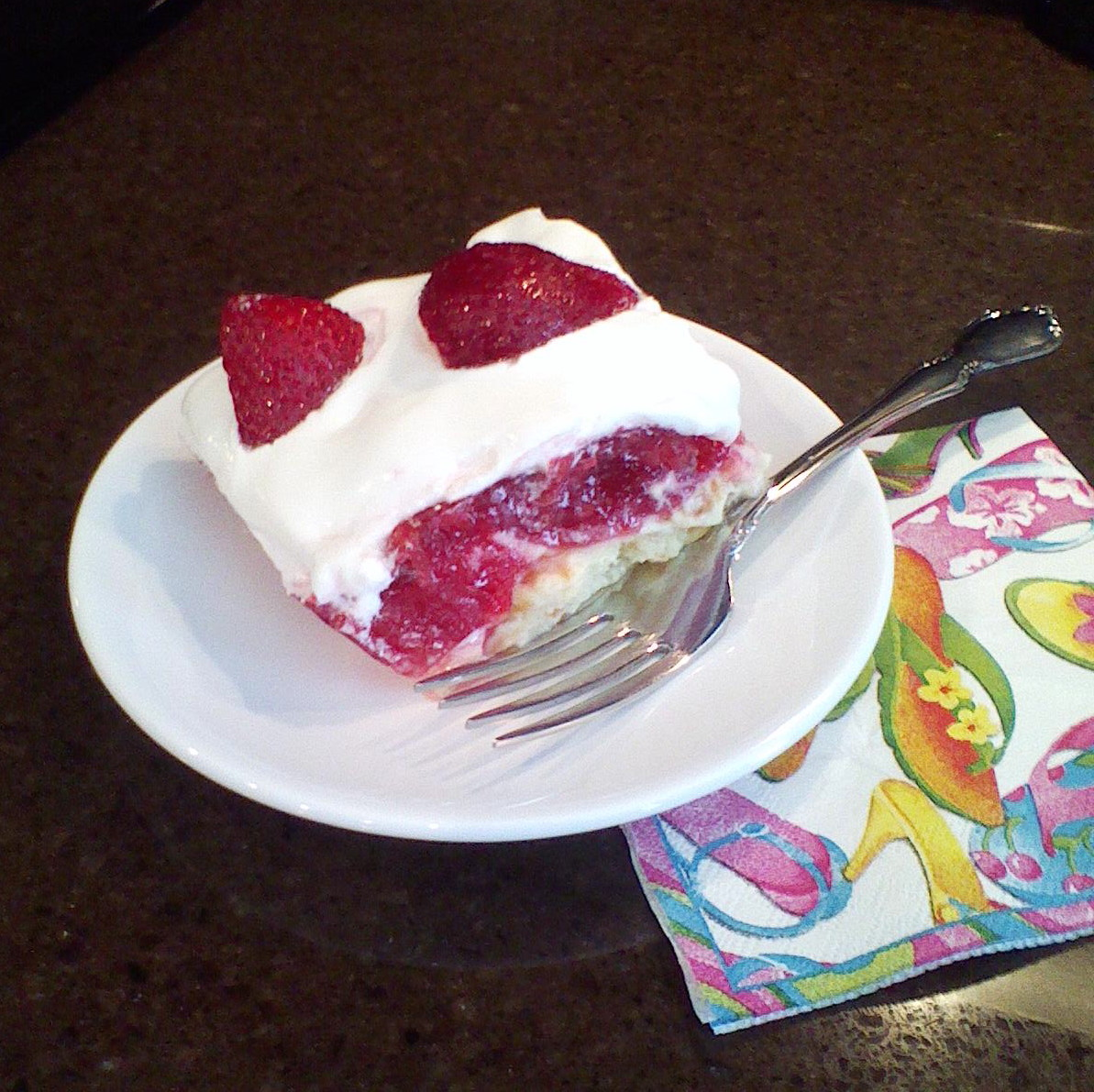 My Patchwork Quilt: STRAWBERRY ANGEL FOOD CAKE