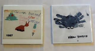 Child's artwork decorative tile