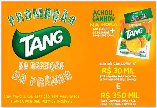 Promoção Tang na refeição dá prêmios.