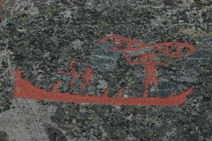The rock carvings art of alta norway great panorama picture