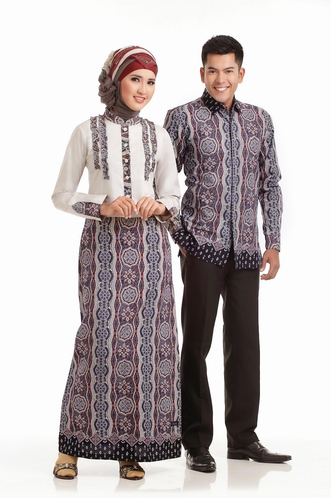 model baju batik muslim edisi lebaran 2015