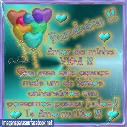 mensagens para facebook - aniversário de amor #1