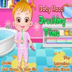 لعبة تنظيف اسنان الطفلة الصغيرة