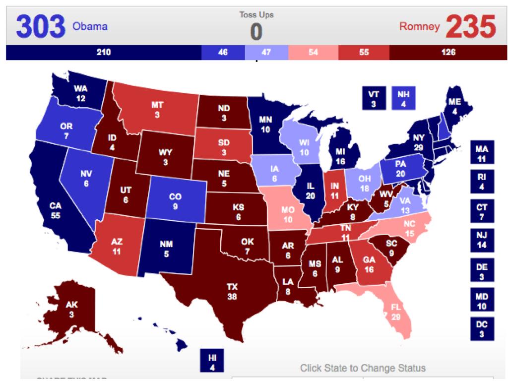 Electoral Vote Predictor: May 2012