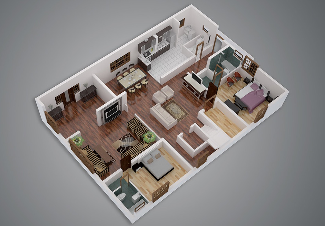 Plans For two bedrooms 4