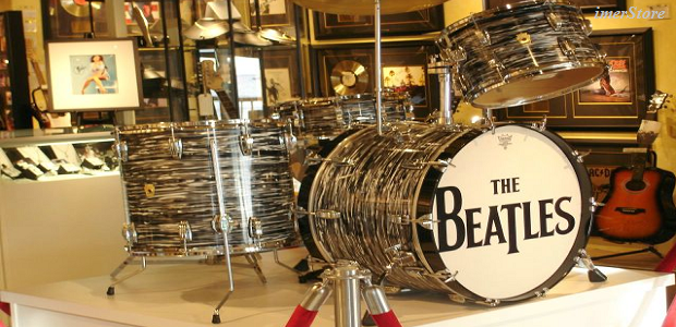 Jual Miniatur Drum Set The Beatles
