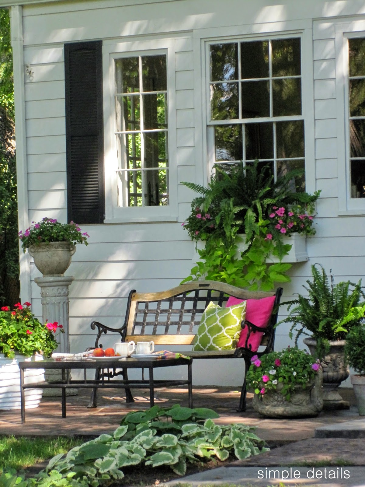 Farm house porch deck love on pinterest porches for Uncovered patio ideas