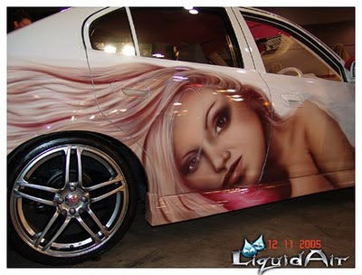 Airbrush Girls Theme on Hyundai Elantra Modification