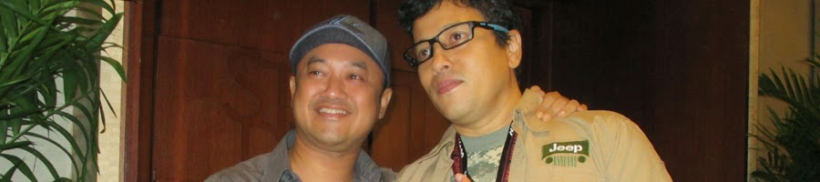 Rizal Mantovani dan Jose Purnomo setelan screening film Danau Hitam