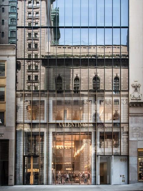 Valentino Flagship Store, Nueva York, fachada