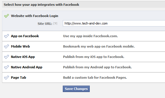 Facebook App Website With Facebook Login