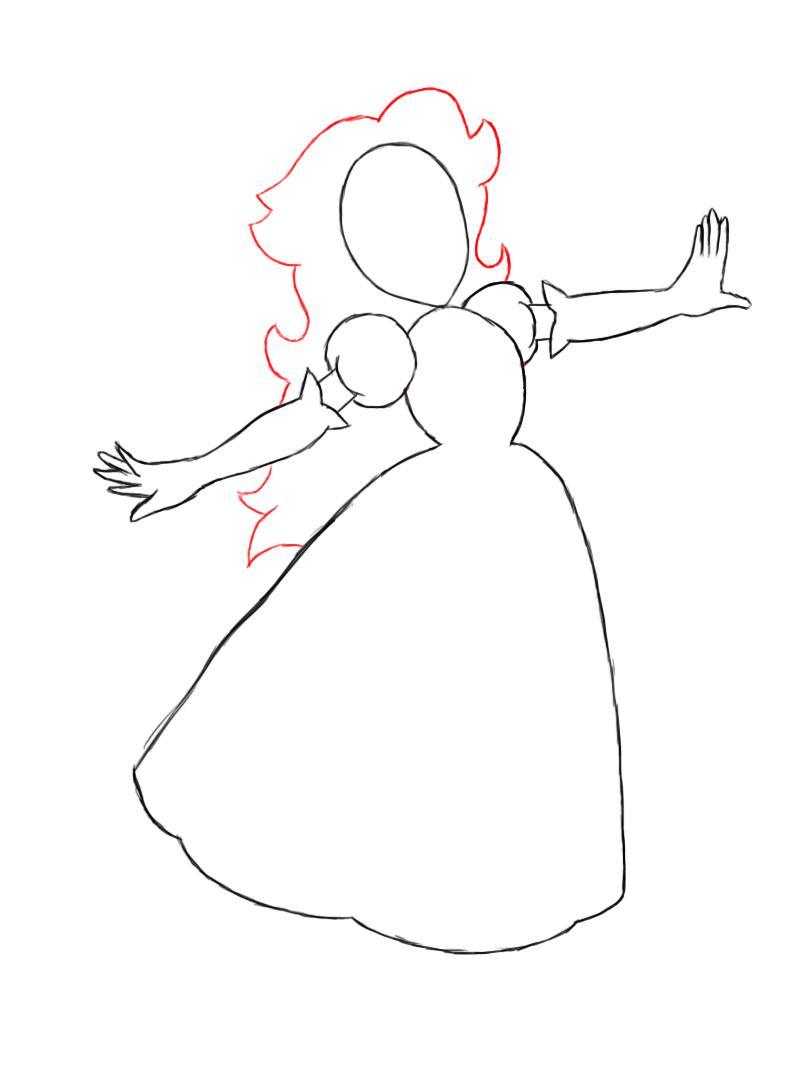 How To Draw Cute Princesses How To Draw A Princess Dress Step By Step Printable