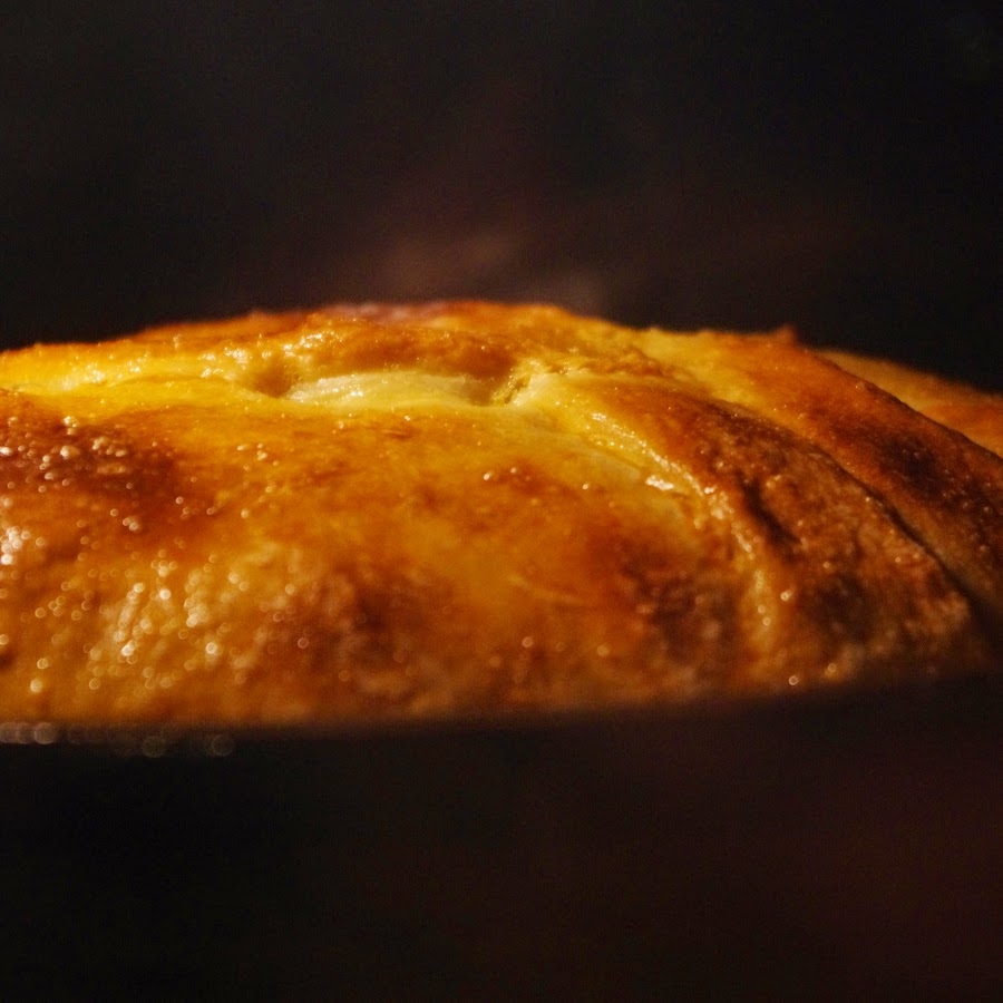 Закрытый пирог с курицей и тыквой