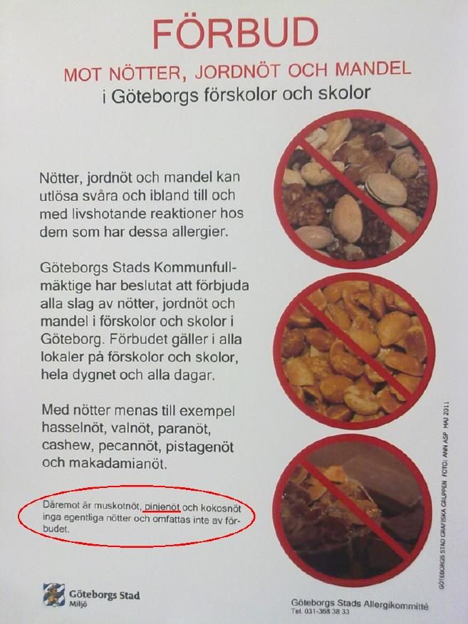 allergi mot nötter