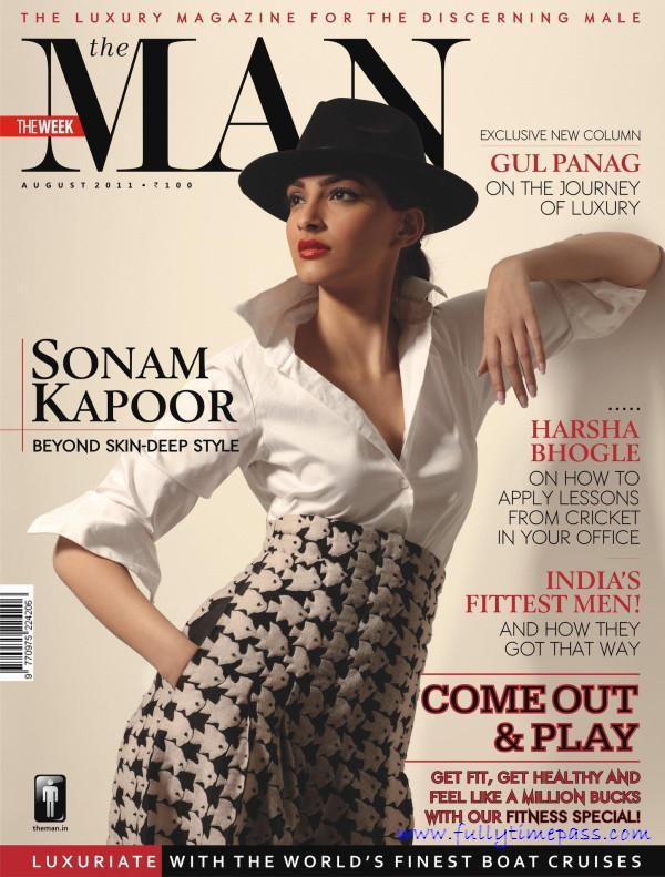 , Sonam Kapoor On Cover Of 'the Man' Magazine August 2011