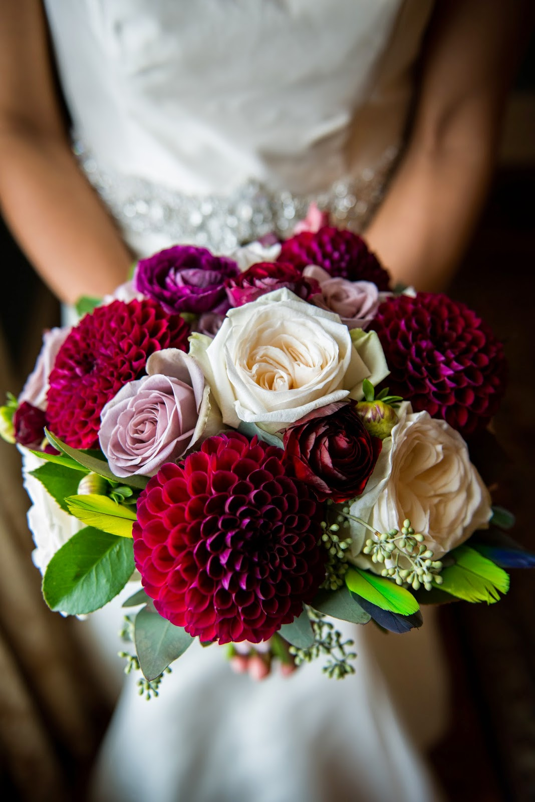 wine wedding flowers