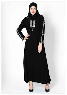 Contoh Model Baju Muslim Abaya Renda Terbaru Update