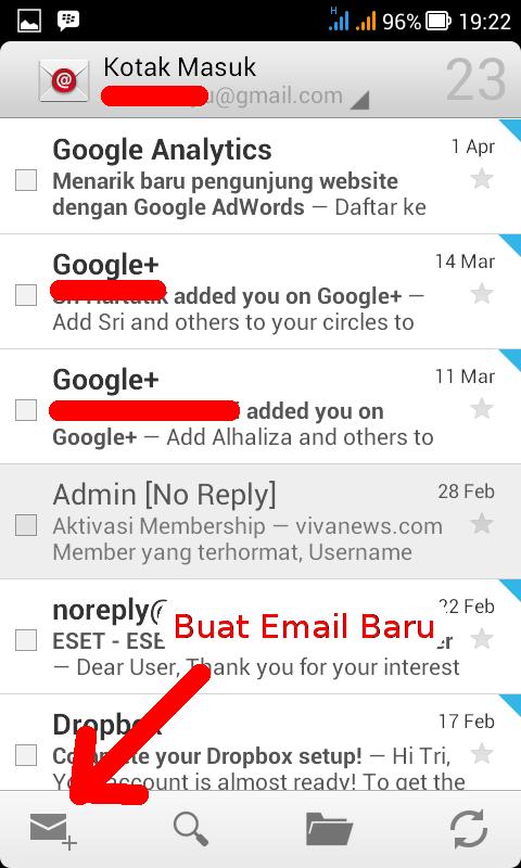 tombol buat email baru