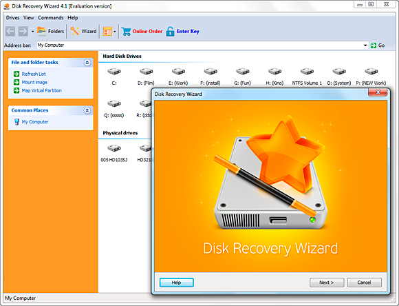 Disk Recovery Wizard 4.1 registration key