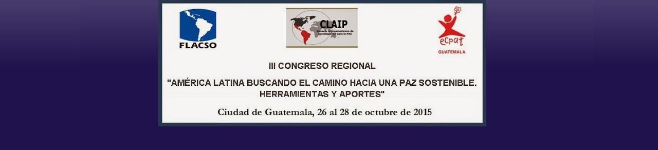 3° Congreso del CLAIP      Guatemala 2015
