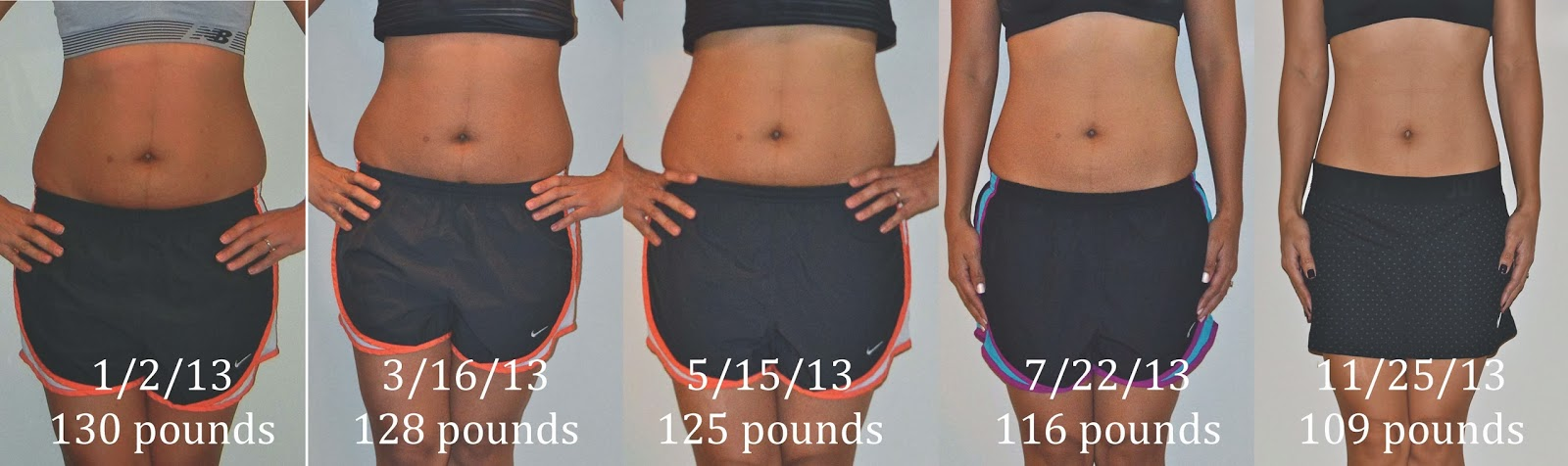 ... months postpartum: 109 pounds ( less than my pre-pregnancy weight