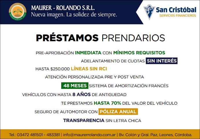 ESPACIO PUBLICITARIO: MAURER ROLANDO S.R.L.