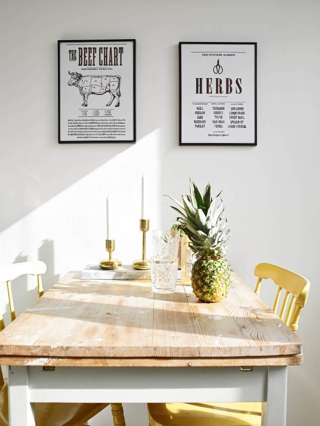 sillas amarillas cocina nórdica