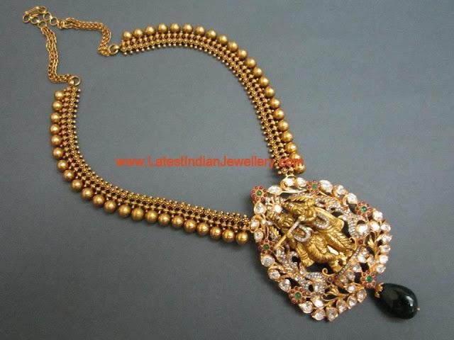 Radha Krishna Locket Haram