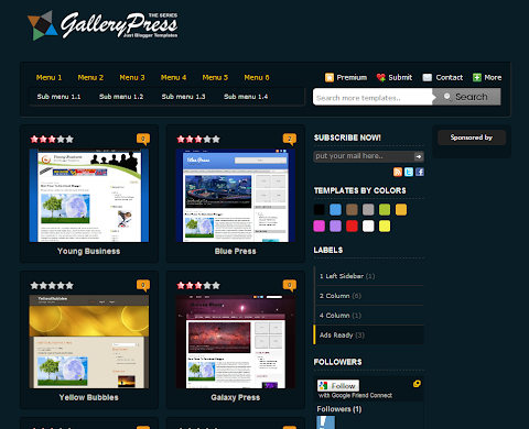 Blue Gallery Press Blogger Theme
