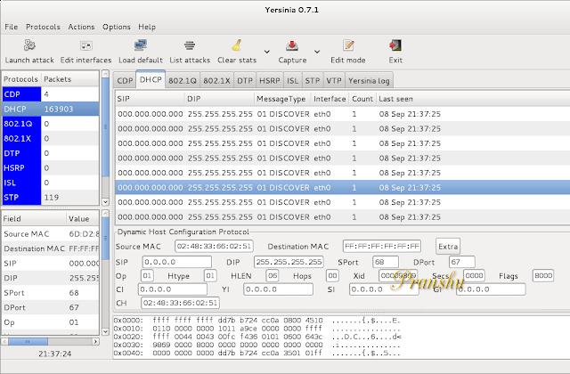 dhcp server exaust ip hacker attack:
