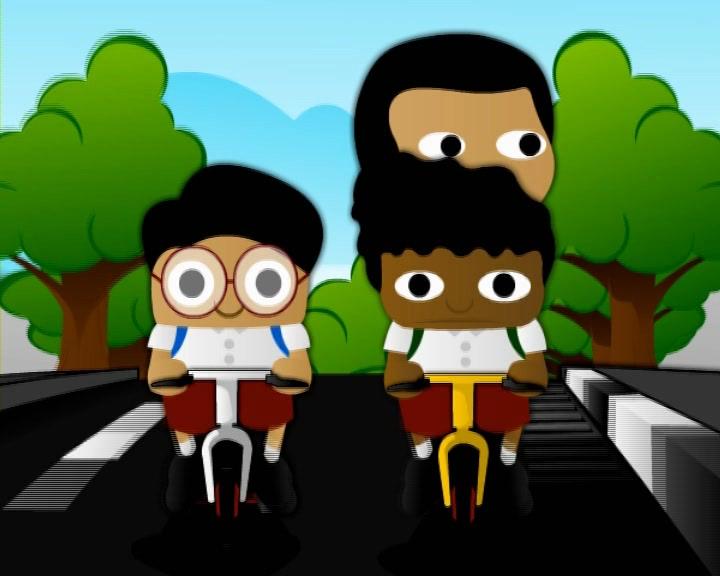 film kartun lalu-lintas untuk anak SD