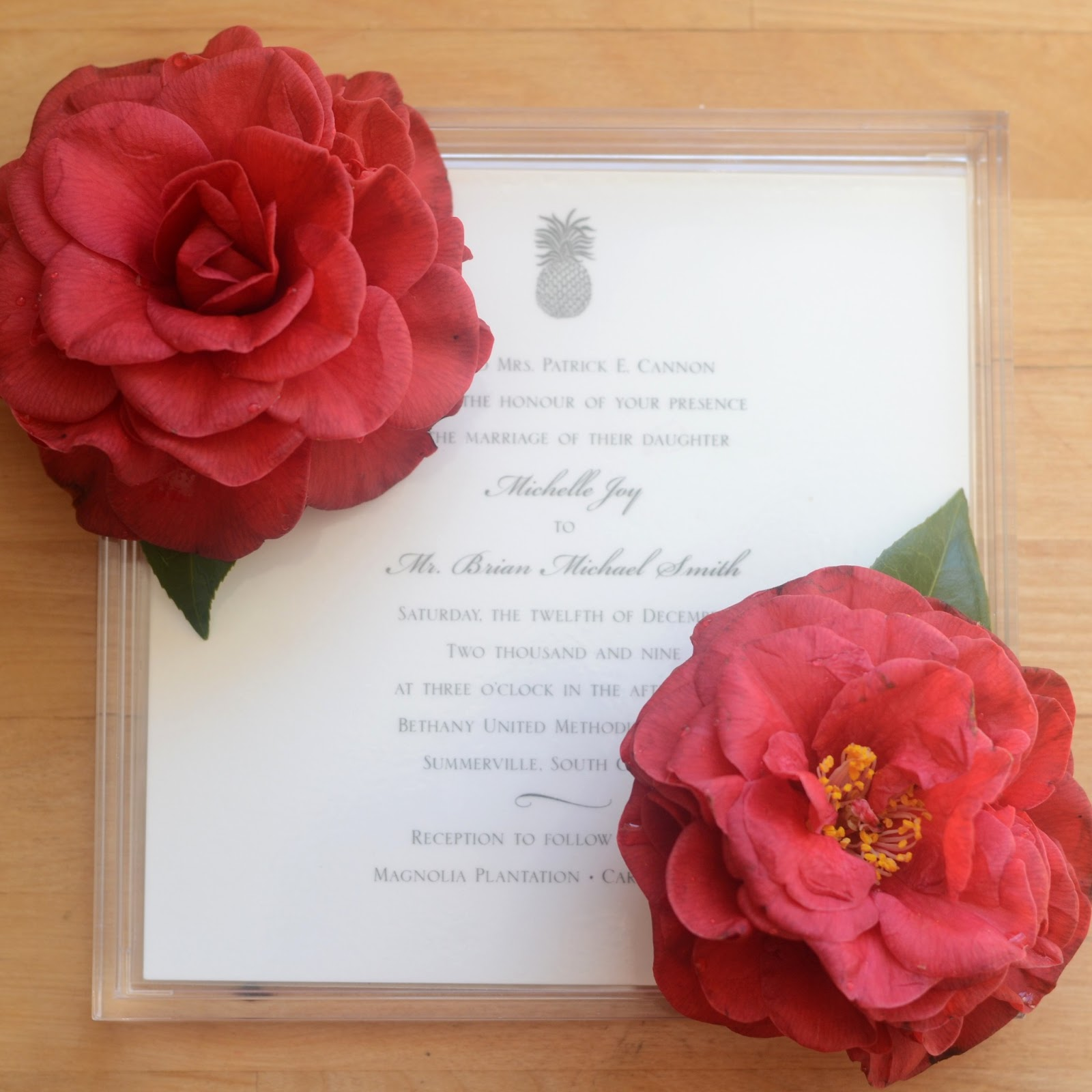 IRON & TWINE: Upcycled Wedding Invitation ~ Lucite Tray