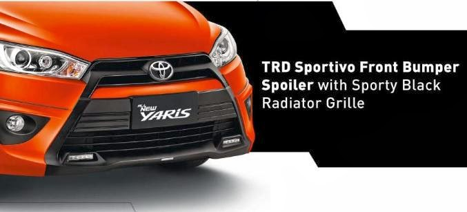 Front Bumper with Sporty Grill All New Yaris 2014
