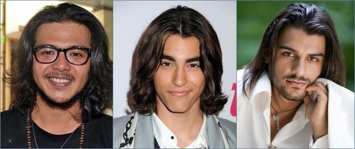 Gaya rambut panjang pria kasual