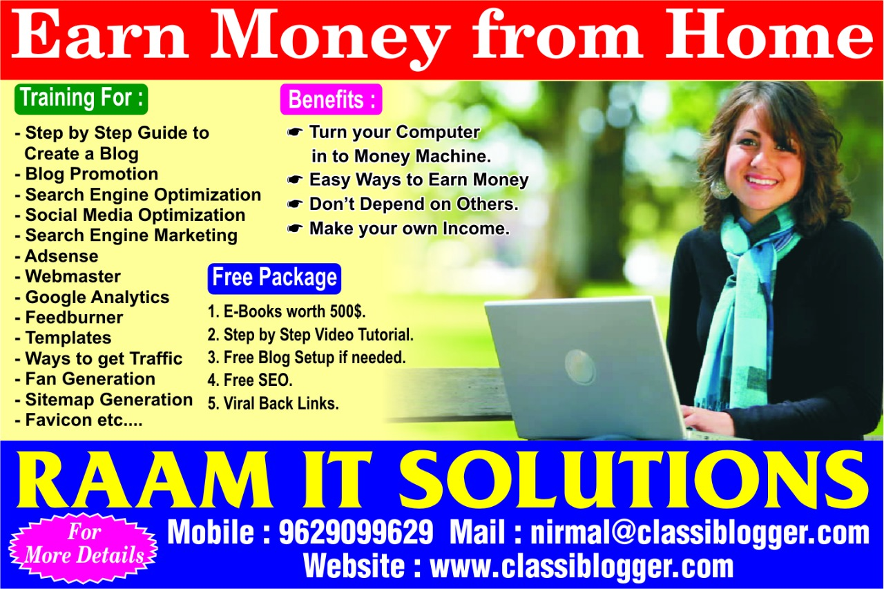 Training for Earning through Online in Madurai