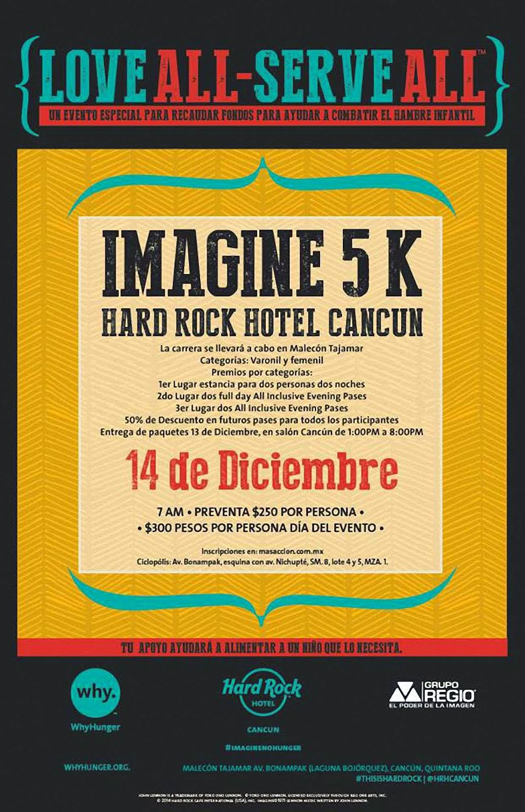 Imagine 5 k Hard Rock Cafe