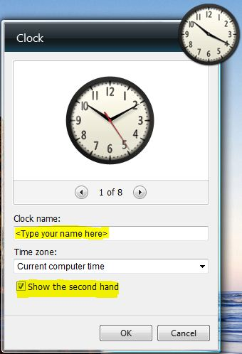 Clock with my name