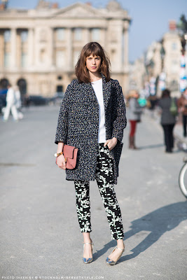 coat, marled, street style, Stockholm street style, winter fashion, pattern mixing